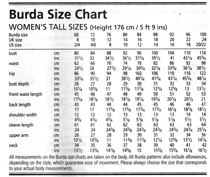 Table Of Sizes  WomenS Clothes Stores And Fashion Clothing