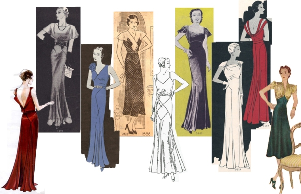 """The most common styles for necklines were crossover and v-necks with ruffles, scallop-edges, or lace accents"" (1930s Fashion for Women paragraph 8)."