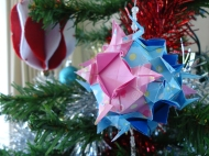 Paper origami bauble